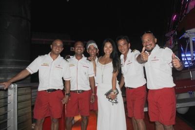 Anggun Cipta Sasmi with Royal Albatross Crew