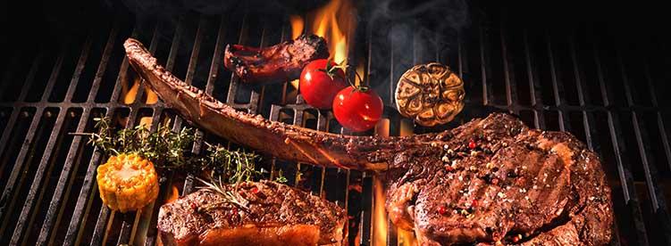 charcoal barbecue steak royal albatross