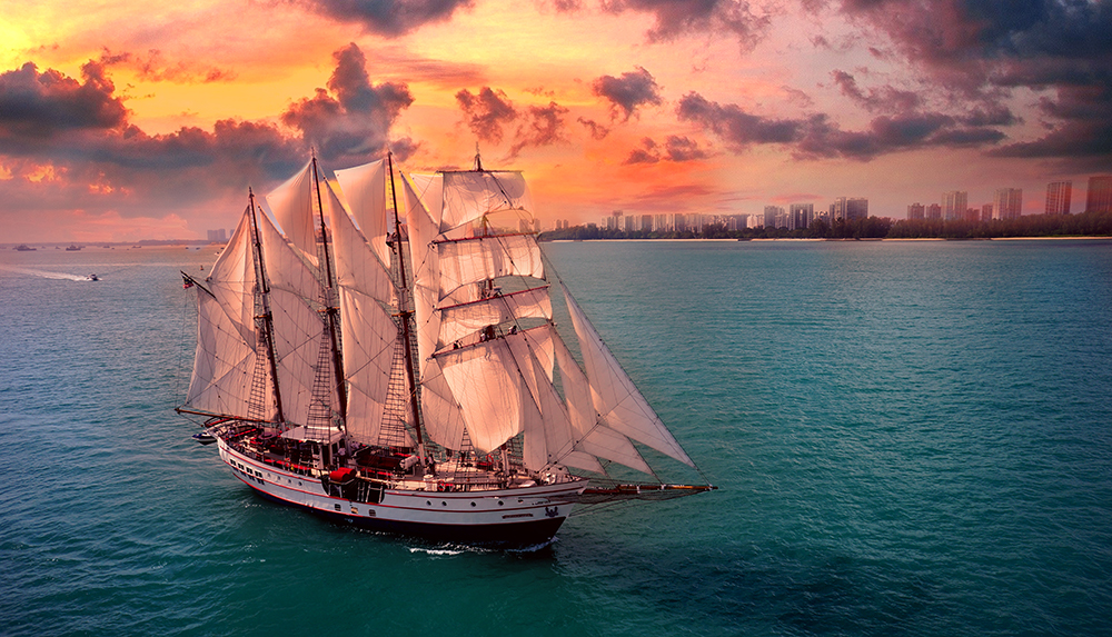 sunset sail with singapore skyline on royal albatross
