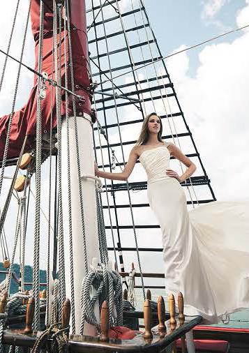 beautiful caucasian bride on royal albatross