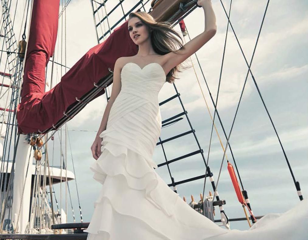 beautiful caucasian bride standing on royal albatross