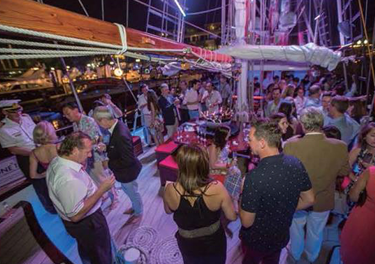 corporate party on board royal albatross