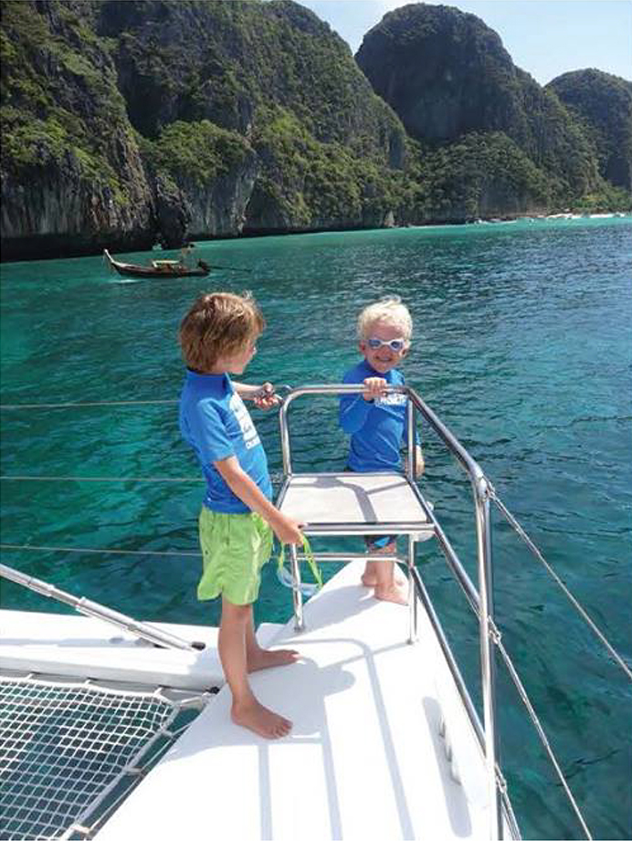 kids on yacht royal albatross 2
