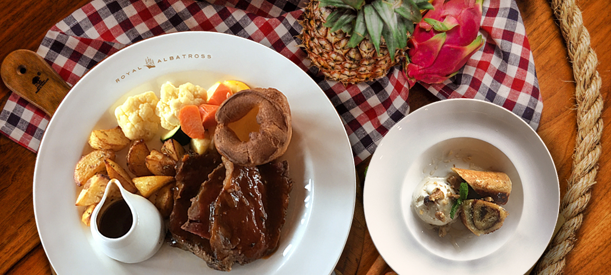 Sunday Lunch onboard the Royal Albatross