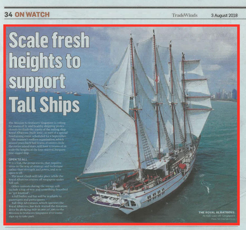 Sailing with royal albatross