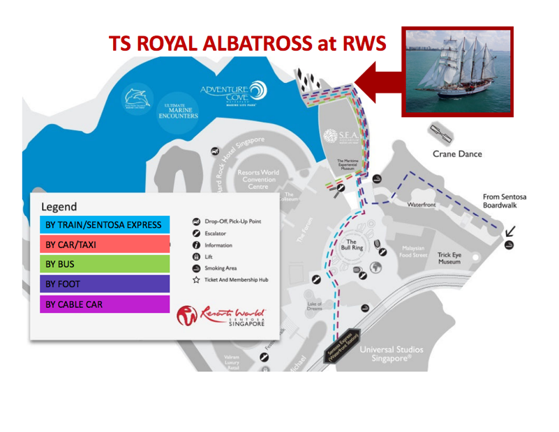 royal albatross map