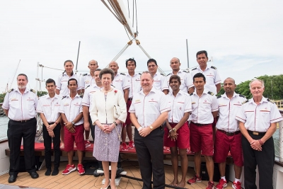 princess anne with tall ship staff royal albatross
