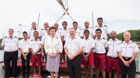 princess anne with tall ship staff royal albatross