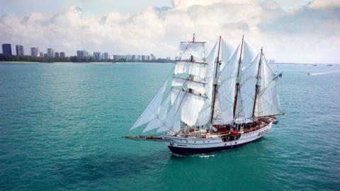 Royal Albatross Sailing towards Marina Bay 4