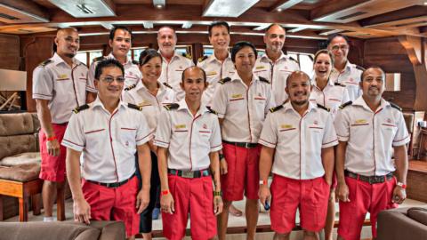 crew pictures inside grand salon royal albatross