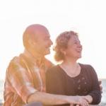 old happy couple royal albatross