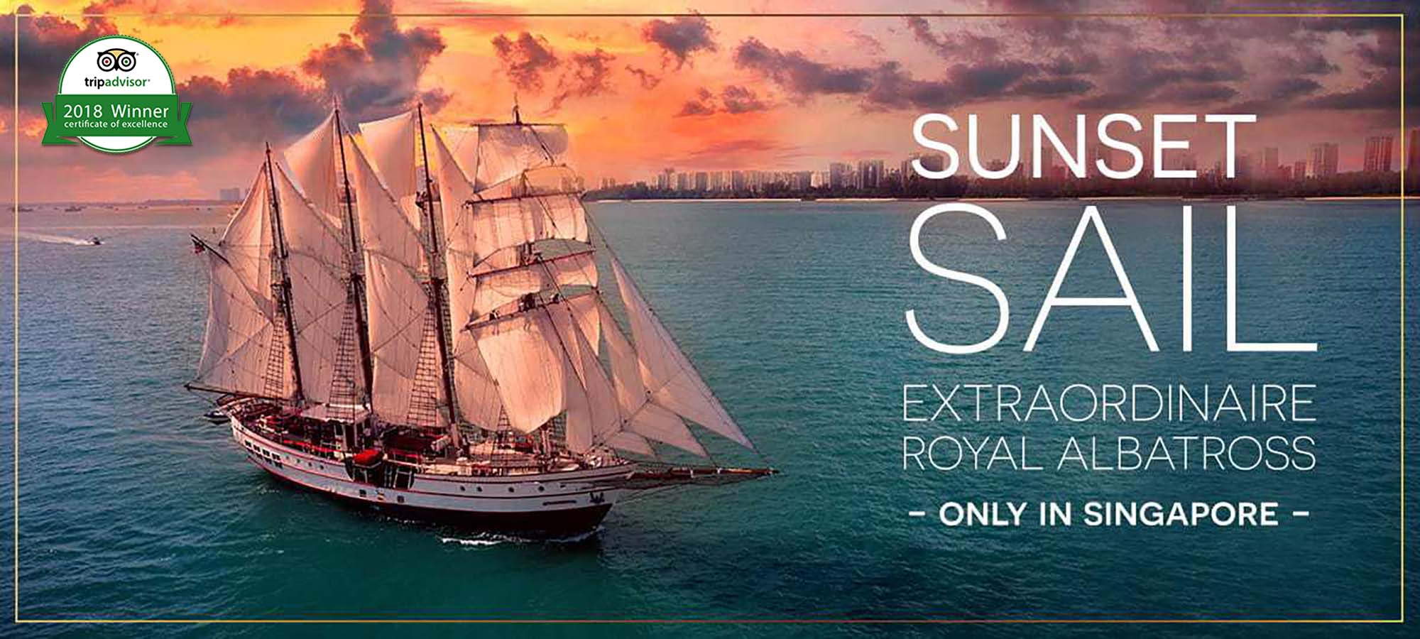 Boat Cruise Singapore - Sunset Sail City Lights