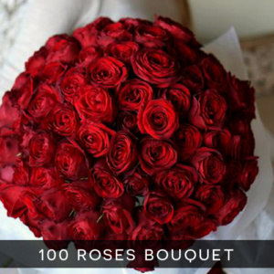 100 roses bouquet royal albatross