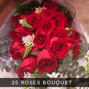 25 roses bouquet royal albatross