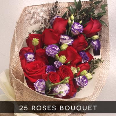25 roses bouquet royal albatross