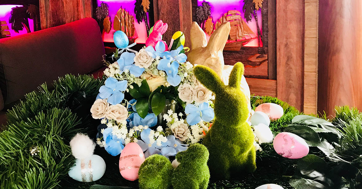 easter special decorations inside royal albatross