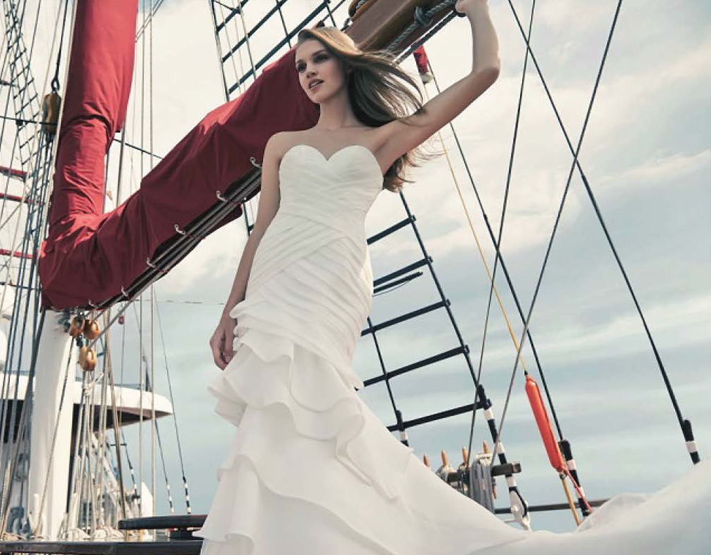 beautiful caucasian bride standing on royal albatross