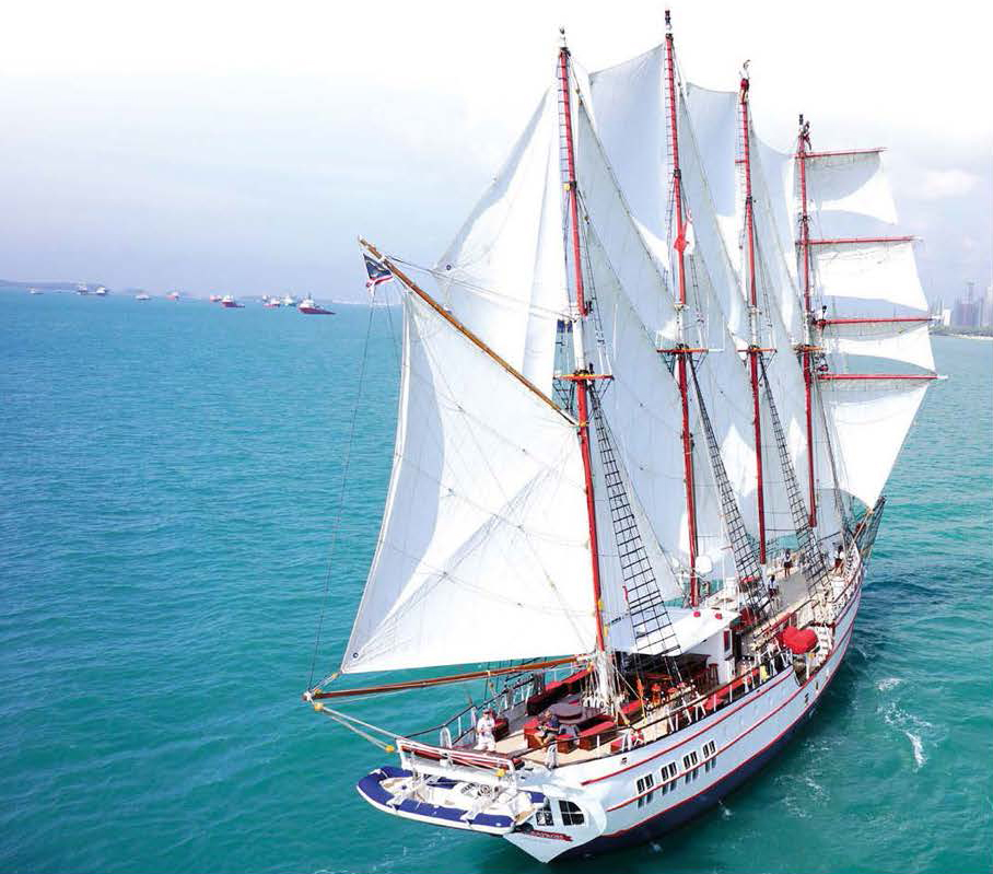ship sailing in daytime with 22 sails royal albatross