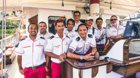 staff on royal albatross group picture