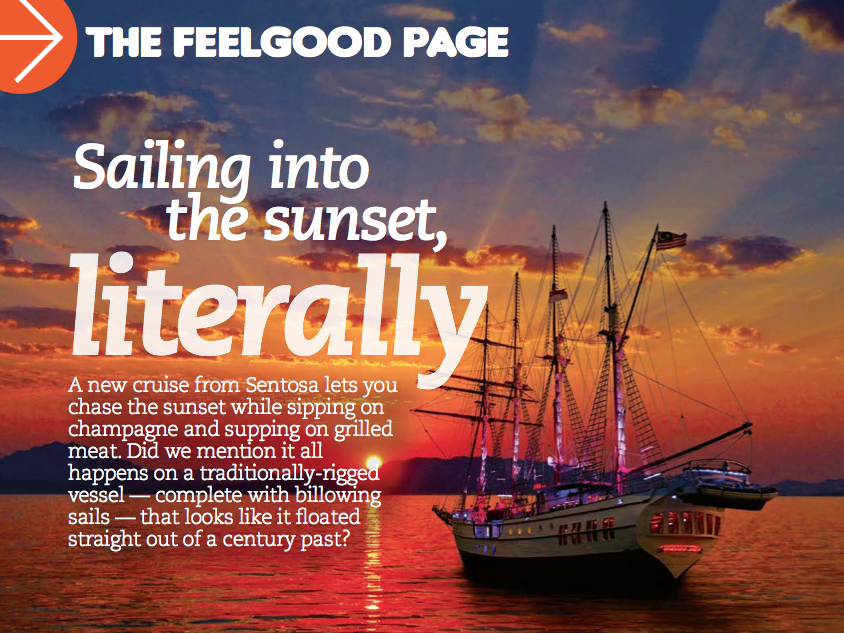 feel good page sailing into the sunset literally