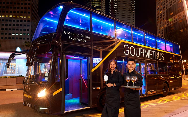 gourmet bus with drinks served royal albatross